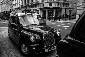 A London Cab - known for taking away fired candidates