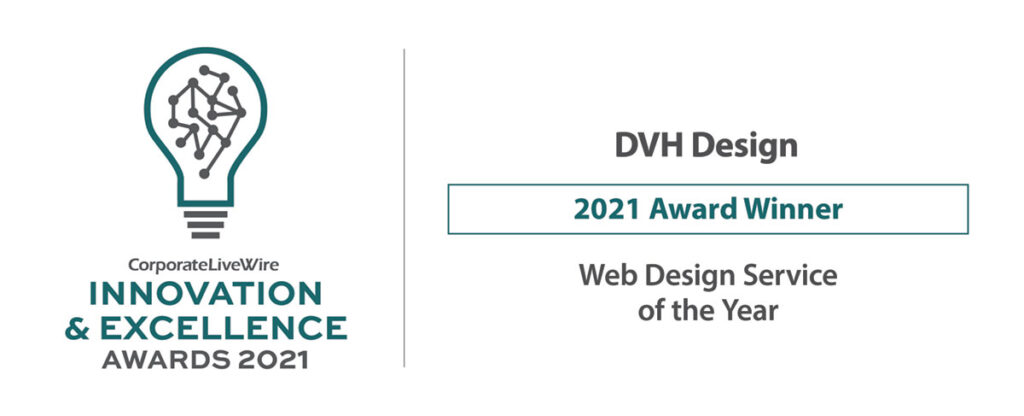 Innovation & Excellence Awards Web design service of the year 2021